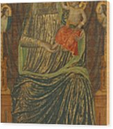 Madonna And Child With Five Angels Wood Print