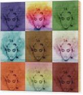 Madonna By Gbs Wood Print by Anibal Diaz