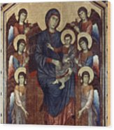 Madonna & Child In Majesty Wood Print by Granger
