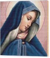 Madonna Dolorosa Wood Print by Stoyanka Ivanova