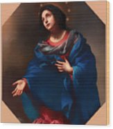 Madonna In Glory Wood Print