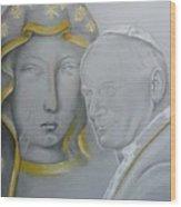 Madonna Nera E Giovanni Paolo II Wood Print