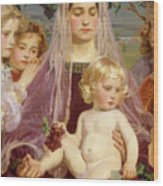 Madonna Of Giverny, 1901 Detail Wood Print