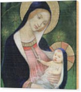 Madonna Of The Fir Tree Wood Print by Marianne Stokes