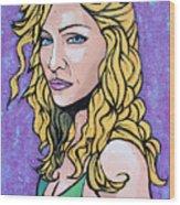 Madonna Wood Print by Sarah Crumpler