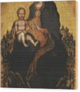 Madonna With Angels 1410 Wood Print