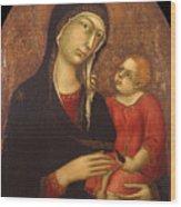 Madonna With Child Wood Print