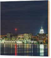 Madtown Skyline Wood Print