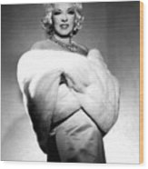 Mae West Wood Print