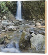 Maekutlong Waterfall Wood Print