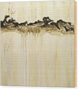 Maelstrom Original Contemporary Modern Abstract Painting Wood Print
