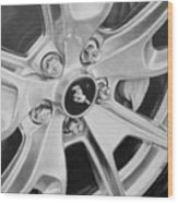 Mustang Mag Wheel Wood Print