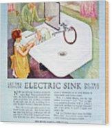 Magazine Ad, 1926 Wood Print