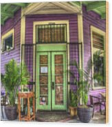 Magazine Street Resaurant Wood Print