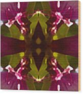 Magent Crystal Flower Wood Print