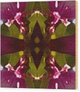 Magent Crystal Flower Wood Print