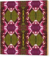 Magenta Crystal Pattern Wood Print