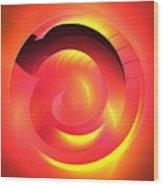 Magenta Curve Wood Print