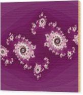 Magenta Galaxies Wood Print