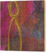 Magenta Joy Stands Alone Wood Print