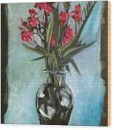 Magenta Oleander Wood Print