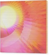Magenta Orange Sunshine Wood Print