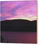Magenta Sky Wood Print