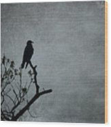 Magestic Crow Wood Print