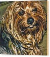 Maggie Smiles Wood Print