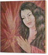 Magic - Morgan Le Fay Wood Print by Bernadette Wulf