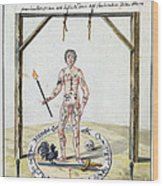Magic Circle Ritual, 18th Century Wood Print