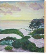Magic Dawn At A Hidden Beach Wood Print