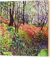 Magic Flower Forest Wood Print