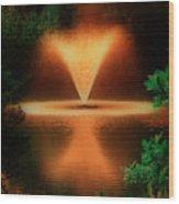 Magic Fountain  Hdr Wood Print
