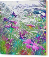 Magic Garden Wood Print
