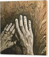 Magic Hands Wood Print