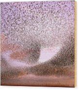 Magic In The Air - Starling Murmurations Wood Print