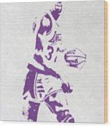 Magic Johnson Los Angeles Lakers Pixel Art Wood Print