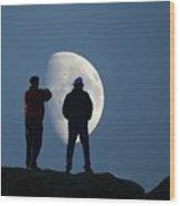 Magic Landscapes 2 -- Moon Men Wood Print