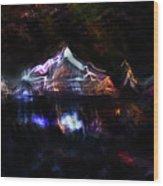 Magic Mountain Lake Wood Print