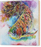 Magic of Arowana Wood Print