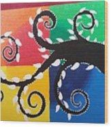 Magic Of Black With The Colourful Lake  Wood Print