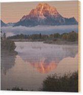 Magic Of Dawn At Oxbow  Bend Wood Print