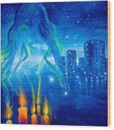 Magic Of The Night Wood Print