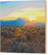 Magic Over Taos Wood Print