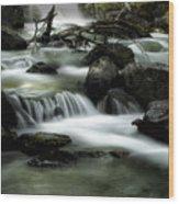 Magic Patagonia Creek Wood Print