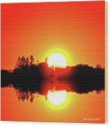 Magic Sunset  Two  Wood Print