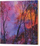 Magic Trees Wood Print