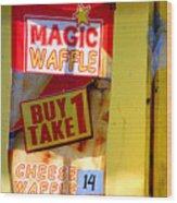 Magic Waffle Wood Print
