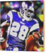 Magical Adrian Peterson   Wood Print